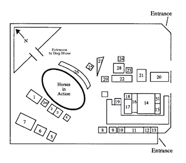 Map of the show ground