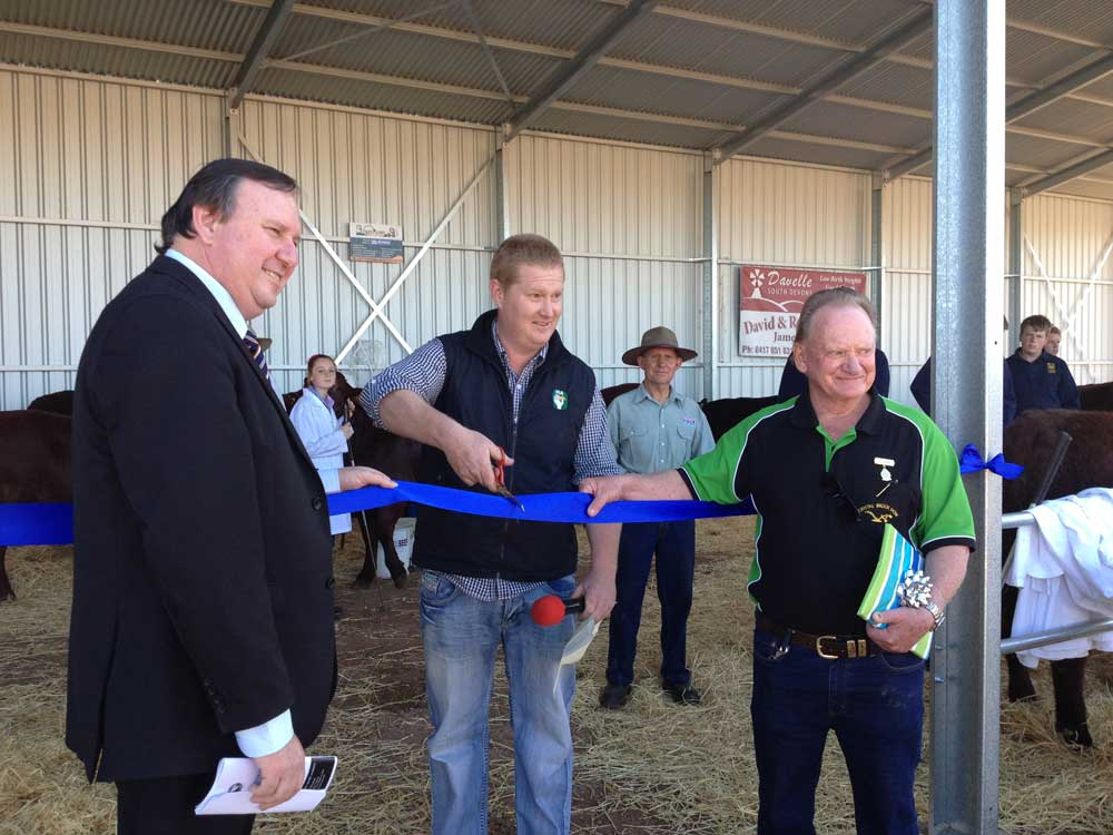 Opening the new Cattle Shed