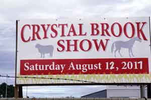 Crystal Brook Show Saturday August 12, 2017 Sign